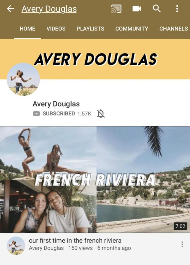 A+snapshot+of+Avery+Douglas%27+Youtube+channel+featuring+a+vlog+of+her+family+vacation.