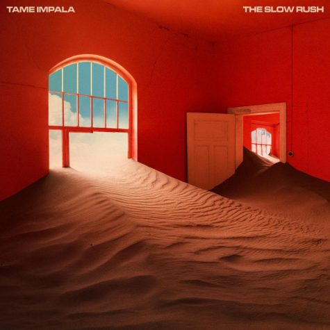 The album cover for The Slow Rush by Tame Impala, as reviewed by Jayla Lowery.