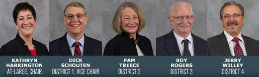 With Commissioner Schoutens retirement in District 1, Commissioner Rogers is the only incumbent running for re-election.