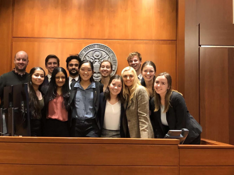 Mock Trial team competes at state. Photo courtesy of Lane Laurent