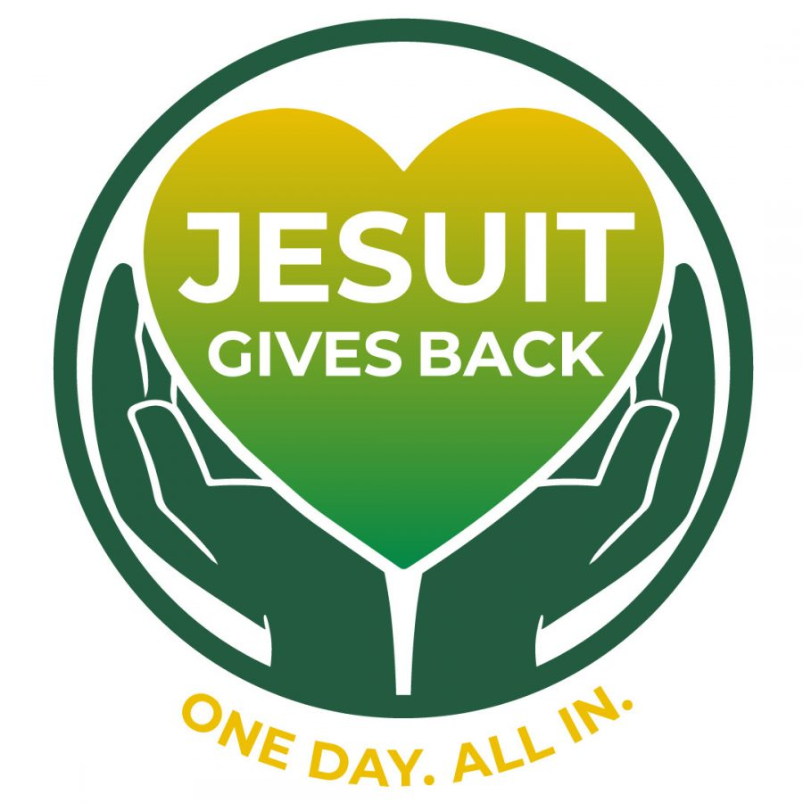 This picture shows the Jesuit's Day of Giving logo.