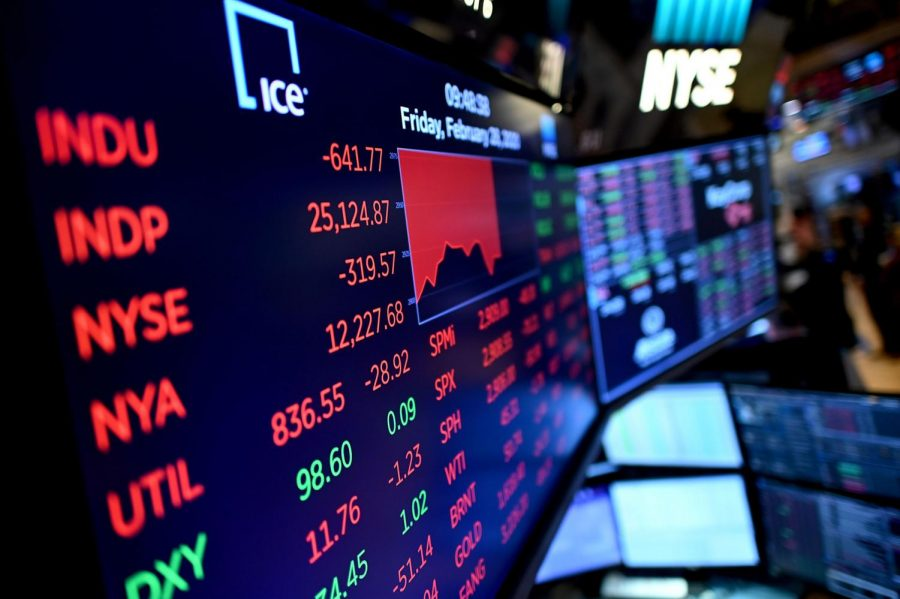 The Dow Jones rose roughly 1,000 points on Tuesday, a result of bipartisan support in Congress for a massive economic stimulus, after a week of intense volatility.