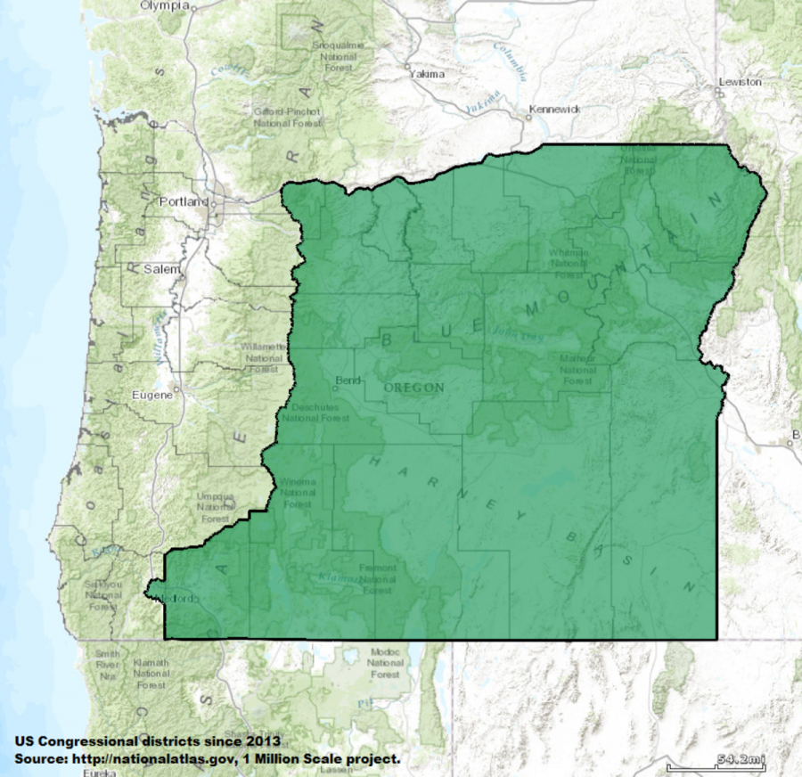 Oregon's Congressional District 2 covers a broad swath of rural portions of the state, including all of central and Eastern Oregon.