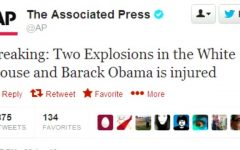 This tweet displaying a fake message was posted by a person who hacked into The Associated Press's twitter account.