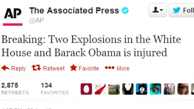 This+tweet+displaying+a+fake+message+was+posted+by+a+person+who+hacked+into+The+Associated+Press%27s+twitter+account.