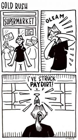 Steele Cartoon: Gold Rush