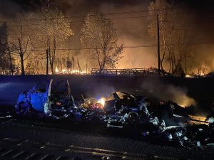 High winds exacerbated a brush fire causing devastation to parts of Oregon City (KPTV)