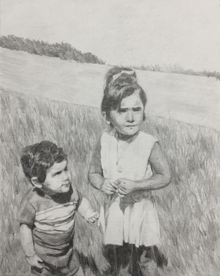 This is a pencil drawing by October Artist of the Month Sophia Gard.