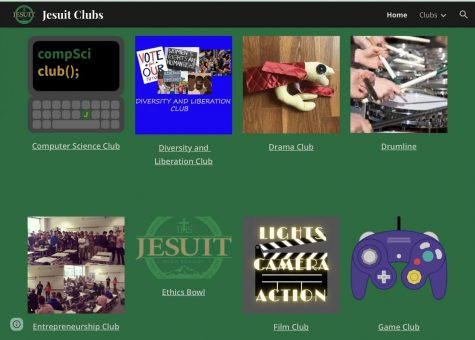 The Jesuit online club fair website in which every student has the opportunity to come and join the diverse variety of clubs.