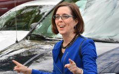 Pictured above is Oregon Governor Kate Brown (flickr.com), who ultimately decides whether or not Oregon High Schools can return to in-person learning.