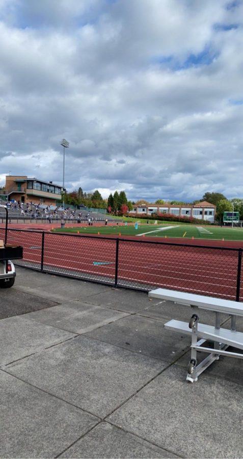 Freshman Gather on Cronin Field to Participate in Day Retreat. Photo Curtsey Gwynne Olson
