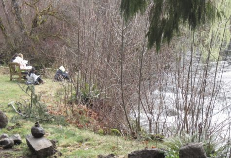 March Co-ed Encounter students enjoying the Mackenzie River's company. Courtesy of Don Clarke.