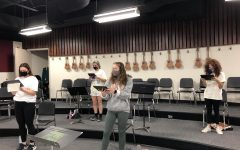 Students Rehearse Godspell on Campus. Photo Curtsey of Ms. Kloser