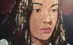 This acrylic painting is a self-portrait by October Artist of the Month, junior Sophia Gard