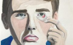 This colored pencil self-portrait was created Olson's junior year.