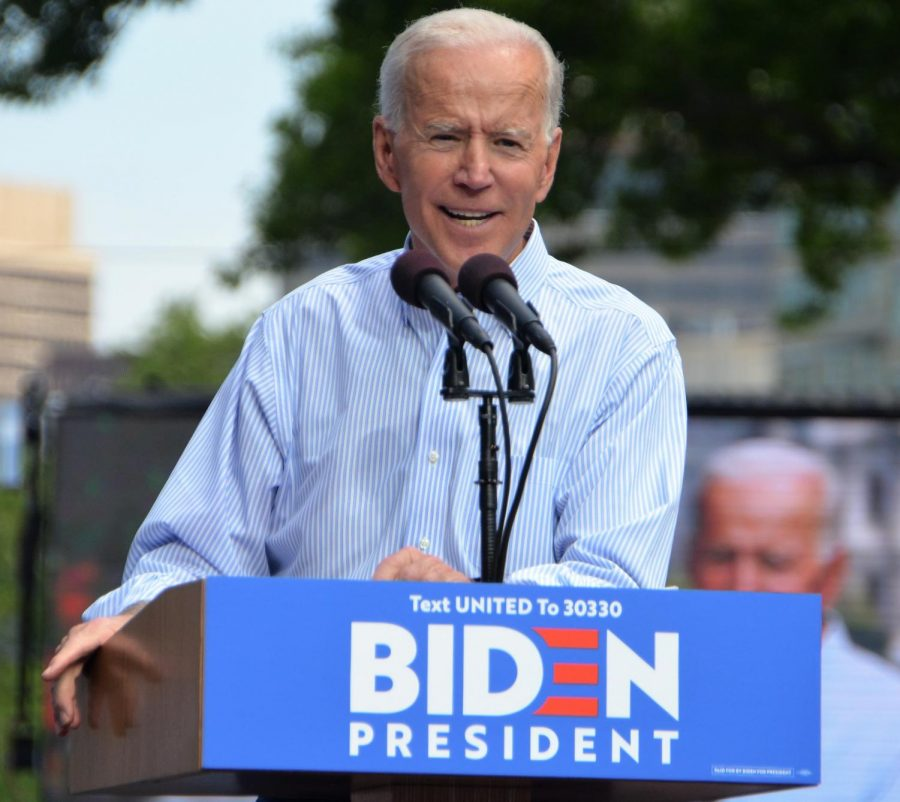 Former Vice President Joe Biden's kickoff rally for his 2020 Presidential campaign. Link to original image: https://commons.wikimedia.org/wiki/File:Joe_Biden_kickoff_rally_May_2019.jpg