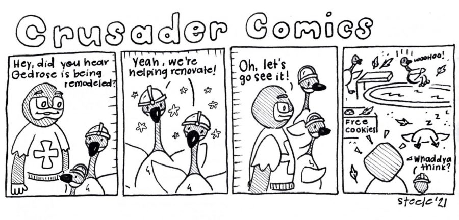Crusader Comics: Student Center Insanity