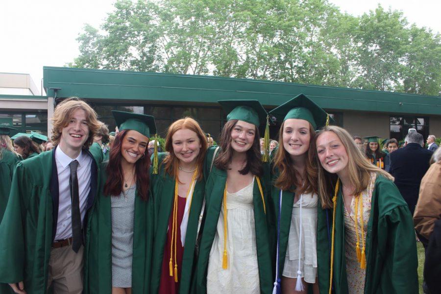 A+Group+of+Seniors+After+Graduation.+Photo+Courtesy+Gwynne+Olson+