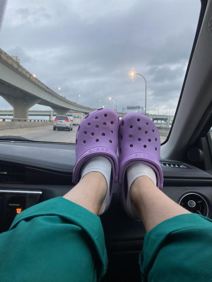Me and my Crocs on the way home from school