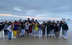 Members of 2021-22 Chamber Choir on the beach retreat, courtesy of Ms. Kristen Caldwell